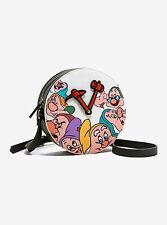 NEW! Disney Danielle Nicole Snow White Seven Dwarfs Clock Crossbody Bag Purse