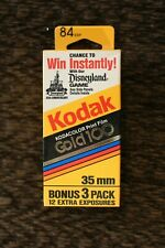 KODAK Gold 100 Kodacolor Print Film 84 Exposures New in Box (Expired 6/1992)