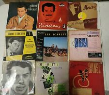 LOT 120 + VINYLES 33 T 1/3 Variete francaise chansons diverses Classique  25