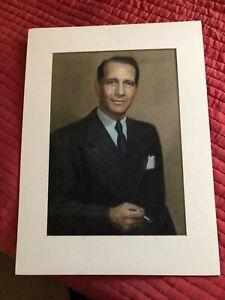 DONALD COOK 1945 PASTEL BY G MAILLARD KESSLERE RARE ORIGINAL MATTED MUSEUM ART