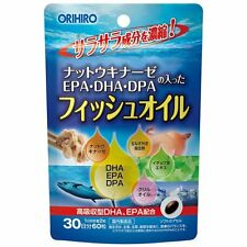 ORIHIRO nattokinase container with fish oil 60 tablets