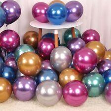 "50Pcs 12"" Metallic Pearl Balloons Bouquet Birthday Wedding Party Ballon Supplies"