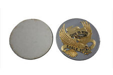 Gold Inlay 3-1/2  Eagle Spirit Medallion For Harley-Davidson