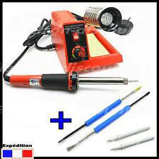 2011# station de soudure 58w réglable + 2 pannes + 2 outils