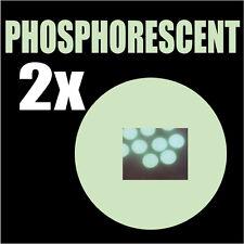 2 pastilles Phosphorescentes lumineuses la nuit rond 3,3 cm autocollant sticker