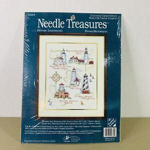 Historic Lighthouses counted cross stitch kit Needle Treasures 02664 new sealed