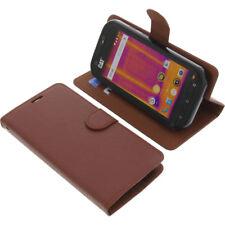 Funda para Cat S60 Smartphone Libro - Estilo Protectora de Móvil Marrón