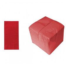 100 8 Fold Rosso Tovaglioli/Tovaglioli di carta 40cm x 40cm Ristorante Take Away