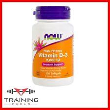 Now Foods Vitamina D-3 2000iu 240 cápsulas blandas huesos & Dientes