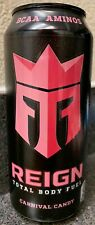 NEW REIGN TOTAL BODY FUEL CARNIVAL CANDY ENERGY DRINK 16 FL OZ FULL CAN BCAA AMI