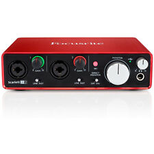 Focusrite Scarlett 2i2 USB Audio Interface (2nd Generation) With Pro Tools and M