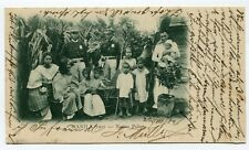 """Philippines Private Mailing Card """"Native Police"""" Manila to St. Gallen 22-8-1902"""