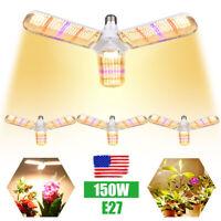 150W E27 LED Grow Light Full Spectrum Hydroponic Indoor Plant Growing Light Lamp