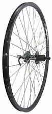 "26"" Alex DC19 Doublewall Black Rear Shimano Disc Wheel 7 8 9 10 Speed QR Bike"