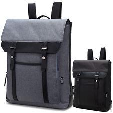 Good Quality Mens Canvas & Leather  British Style Rucksack Backpack Bag mbag1415
