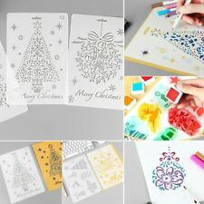 Painting Stamp Embossing Scrapbooking Christmas Hollow Stencils Flower Template