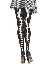 Leg Avenue Spine Backseam Tights. 100% Polyamide Nylon. Black. Halloween tights.