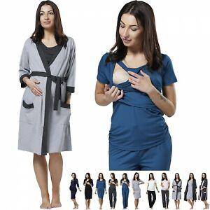 ZETA VILLE Women's Maternity Nursing Pyjamas Set/Robe SOLD SEPARATELY 1031