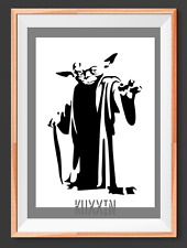 Yoda Star Wars A4  Mylar Reusable Stencil Airbrush Painting Art Craft