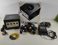 Nintendo GameCube Black Console + Cables + Controller + Game Boxed Bundle PAL UK