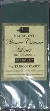 Shower Curtain Liner Vinyl Mold Mildew Resistant Water Repellent Odorless Magnet