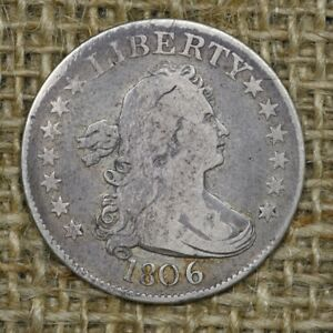 1806 25C VG/F Draped Bust Quarter, Original Color