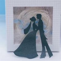 Stanzschablone Brautpaar Hochzeit Weihnachten Geburtstag Oster Karte Album DIY