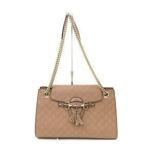 Gucci Shoulder Bag no issue to use Pinks Leather 1522551