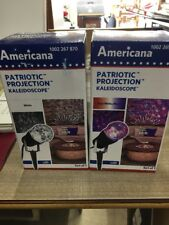America Patriotic Projection White And Red/white/white/blue Kaleidoscope