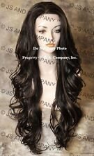 Heat Safe French Lace Front WIG Long Wavy Brown Strawberry Blonde  WBKM 4-27