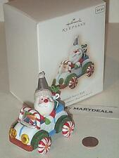 2007 HALLMARK KEEPSAKE SANTA'S SWEET RIDE #1 CANDY DECORATING CAR ORNAMENT NIB