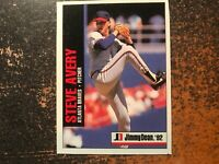 Steve Avery Braves 1992 Jimmy Dean RARE HAND CUT POSTER PROOF CARD #5