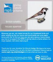 RSPB Pin Badge | House Sparrow | GNaH [01321]