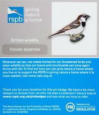 RSPB Pin Badge   House Sparrow   GNaH [01321]