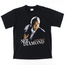 Neil Diamond T Shirt Mens L 1999 As Time Goes By Europe Tour Concert Vintage