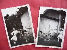 PHOTOGRAPHIES ANCIENNES ,jeunes filles Vélo bicyclette, photo old french bicycle