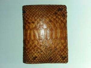FREE SHIPPING Genuine Python Snakeskin Leather Wallet - Brown