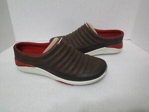 NEW Merrell J02306 Applaud Slide Bracken Brown Leather Mules Shoes Women's US 9
