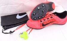 NIKE ZOOM RIVAL MD 7 MEN'S Sz. 14 Pink / Orange Track Racing Shoes Spikes & Tool