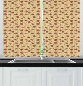 """Ladybug Kitchen Curtains 2 Panel Set Window Drapes 55"""" X 39"""""""