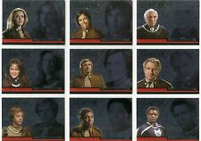 Complete Battlestar Galactica Complete Colonial Warriors Chase Card Set CW1-9