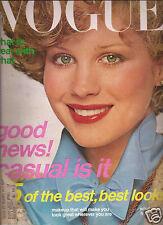 Vogue August 1976 Francoise de la Renta-Helene Rochas-Helmut Newton-Turbeville