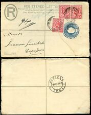 ORANGE RIVER COLONY KE7 REGISTERED STATIONERY 1906 + WESTERN TPO