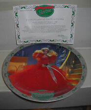 #7479 Enesco Happy Holidays Barbie 1988 Le Collector's Plate
