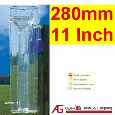 RAIN GAUGE - LIFETIME W'TY - WILL NOT GO YELLOW - 280MM AUS MADE PROFESSIONAL