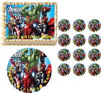 The Avengers Edible Cake Topper Image Frosting Cake Decoration Cupcakes Edible