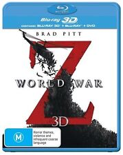 World War Z (Blu-ray, 2013, 3-Disc Set) Brand New & Sealed