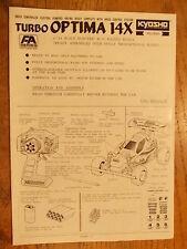 Turbo Optima 14X Manual - Kyosho 1:14 Scale 1/14th Scale