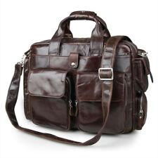 "Leather business bag-Laptop bag-commuter bags-15"""