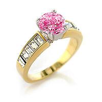 Bague luxe plaqué or 18k femme mode chic serti zirconium saphir diamant bijou